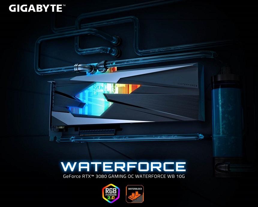 GIGABYTE ra mắt card đồ họa GeForce RTX 3080 GAMING OC WATERFORCE WB 10G